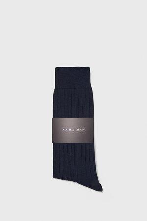 Zara Miehet Sukat - Ribbed mercerised cotton socks