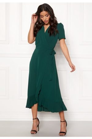 John Zack Naiset Kesämekot - Short Sleeve Wrap Dress green XS (UK8)