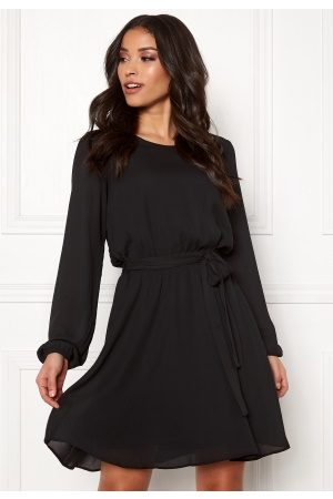 Vila Naiset Minimekot - Lucy L/S Dress Black 40