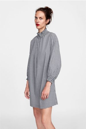 Zara GINGHAM CHECK DRESS