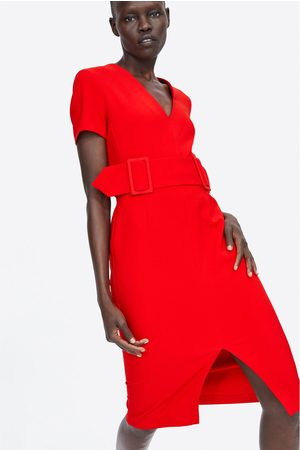 Zara PENCIL DRESS WITH BELT