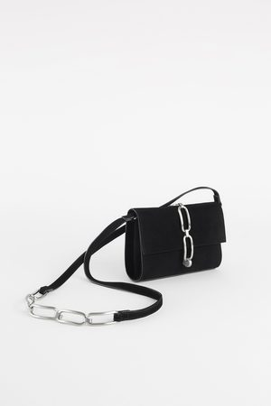 Zara LEATHER CROSSBODY BAG WITH LINKS
