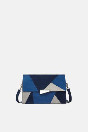 Zara LEATHER CROSSBODY BAG