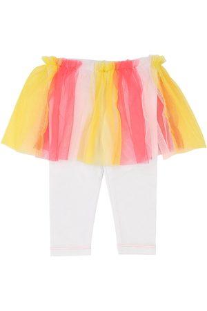 Billieblush Tytöt Leggingsit - Cotton Jersey Leggings W/ Tulle Skirt