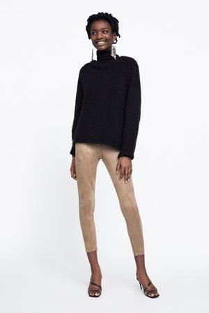 Zara FAUX SUEDE LEGGINGS