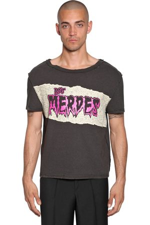 Maison Margiela Miehet T-paidat - Printed Raw Cut Cotton Jersey T-shirt