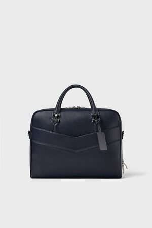 Zara DOUBLE-ZIP BRIEFCASE
