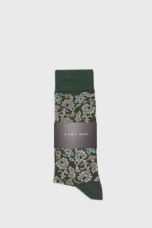 Zara FLORAL MERCERISED SOCKS