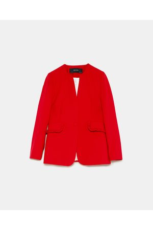 Zara BLAZER WITH FRILL POCKETS