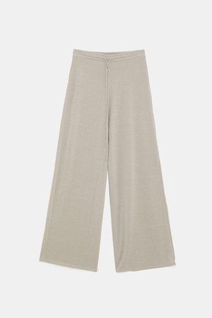 Zara Housut - METALLIC THREAD TROUSERS