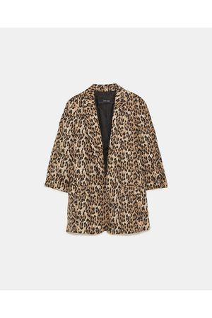 Zara ANIMAL PRINT BLAZER