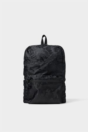 Zara BLACK ULTRALIGHT BACKPACK
