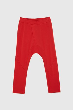 Zara JOGGING TROUSERS WITH SEAM DETAIL