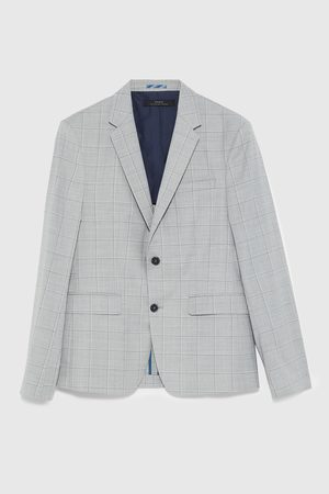 Zara CHECKED SUIT BLAZER