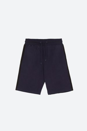 Zara JOGGING-STYLE BERMUDA SHORTS WITH SIDE STRIPES