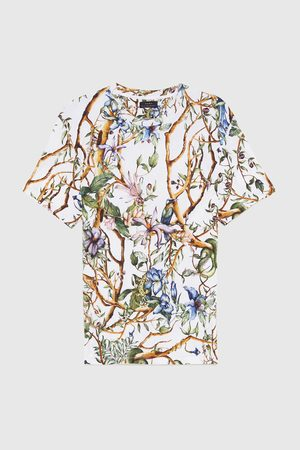 Zara BOTANICAL PRINT T-SHIRT