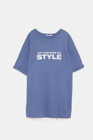 Zara Colleget - SLOGAN SWEATSHIRT DRESS
