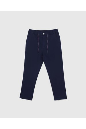 Zara SATIN FINISH JOGGING TROUSERS
