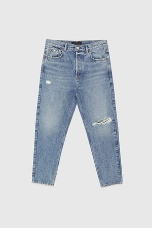 Zara BASIC RELAXED FIT DENIM ESSENTIALS JEANS