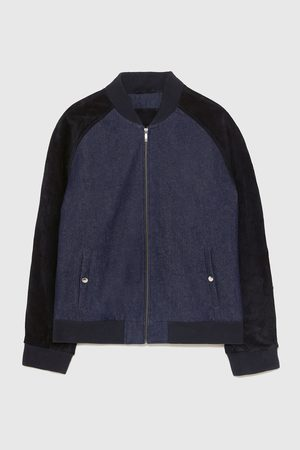Zara DENIM BOMBER JACKET