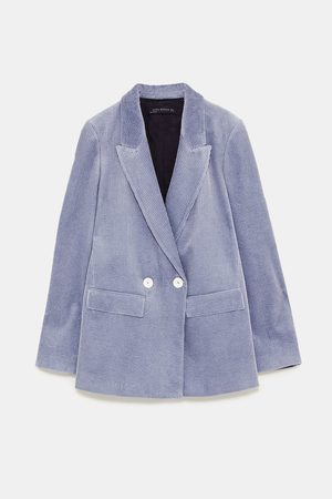 Zara DOUBLE-BREASTED CORDUROY BLAZER