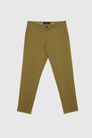 Zara Chinot - CROPPED SLIM FIT CHINOS