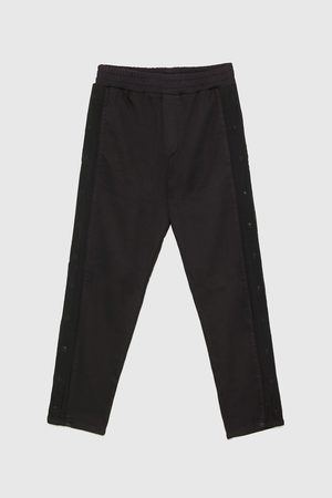 Zara BUTTONED JOGGING TROUSERS