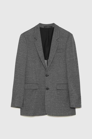 Zara CHECK-TEXTURED BLAZER