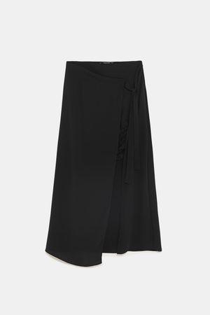 Zara COMBINED LACE WRAP SKIRT