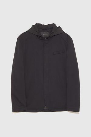 Zara QUILTED THREE-QUARTER-LENGTH COAT WITH DETACHABLE INTERIOR