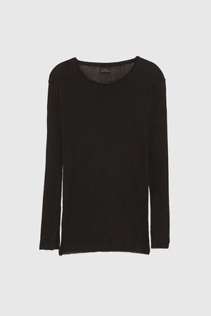 Zara LIGHWEIGHT RIBBED T-SHIRT