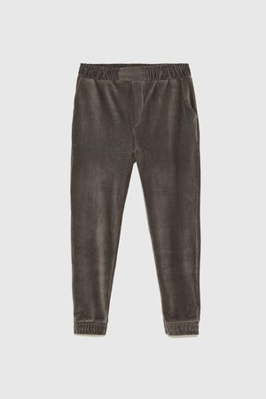 Zara CORDUROY JOGGING TROUSERS