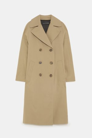 Zara LONG DOUBLE-BREASTED TRENCH COAT