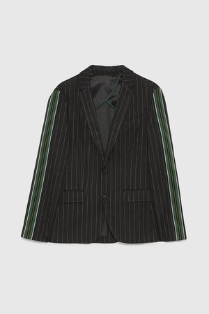 Zara PINSTRIPED BLAZER WITH SIDE STRIPES