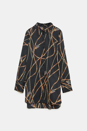 Zara CHAIN PRINT SHIRT