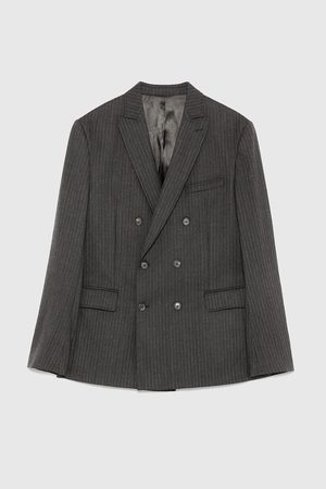 Zara STRIPED DOUBLE-BREASTED BLAZER