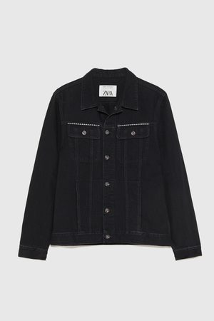 Zara STUDDED DENIM JACKET