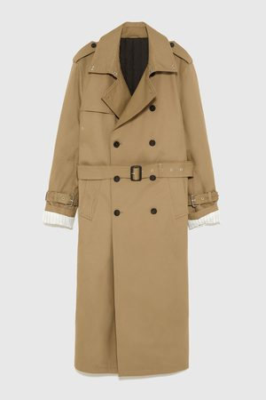 Zara DOUBLE-BREASTED TRENCH COAT WITH STUDS