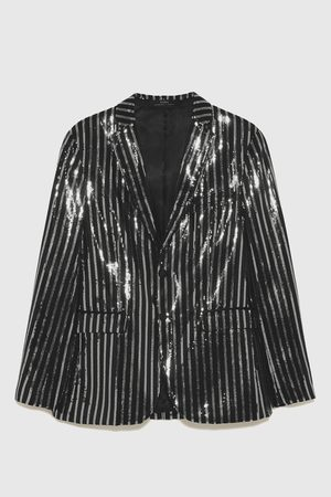 Zara BLAZER WITH SEQUINNED STRIPES