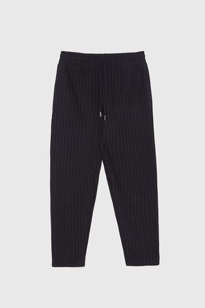 Zara STRIPED JOGGING TROUSERS