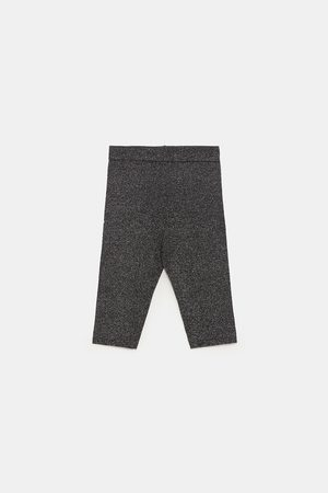 Zara KNIT CYCLIST TROUSERS