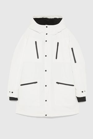 Zara Anorakit - COMBINED PARKA WITH CONTRAST TRIMS
