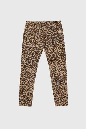 Zara ANIMAL PRINT TROUSERS