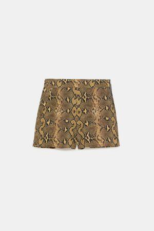 Zara Snakeskin print shorts