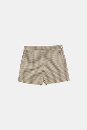 Zara Checked bermuda shorts