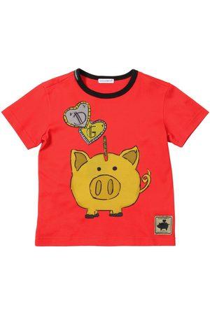 Dolce & Gabbana Piggy Bank Print Cotton Jersey T-shirt
