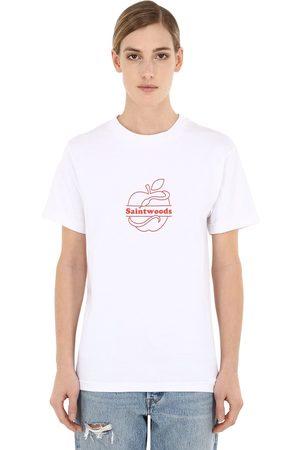 SAINTWOODS Luisaviaroma Logo Cotton Jersey T-shirt