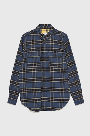 Zara Miehet Farkku - Check flannel shirt