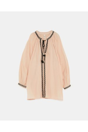 Zara TUNIC WITH CONTRASTING EMBROIDERY