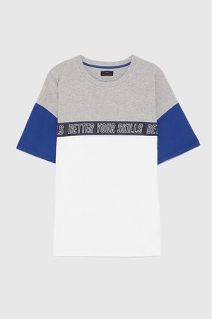 Zara PRINTED PANEL T-SHIRT
